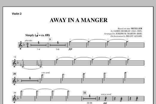 Away In A Manger (from A Symphony Of Carols) - Violin 2 (Choir Instrumental Pak)
