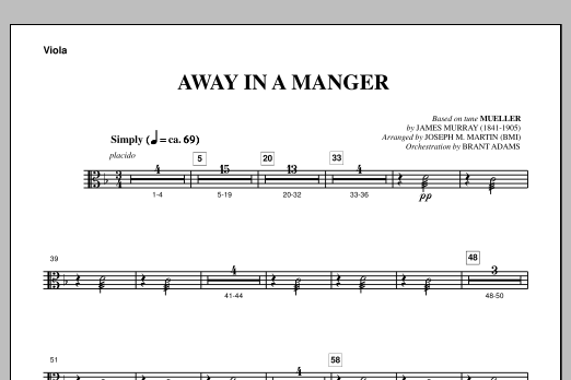 Away In A Manger (from A Symphony Of Carols) - Viola (Choir Instrumental Pak)