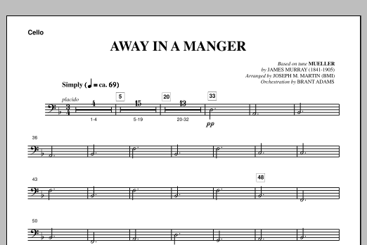 Away In A Manger (from A Symphony Of Carols) - Cello (Choir Instrumental Pak)