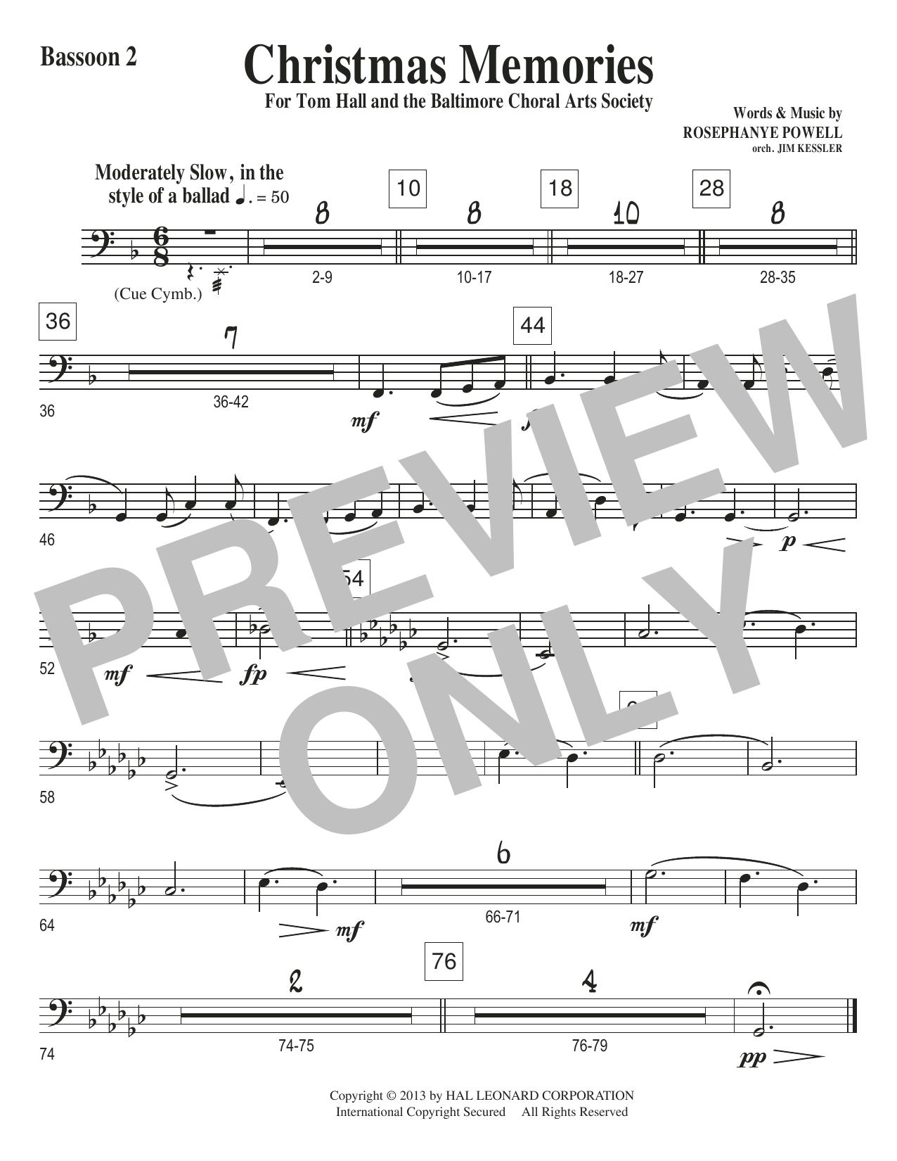 Christmas Memories - Bassoon 2 Sheet Music