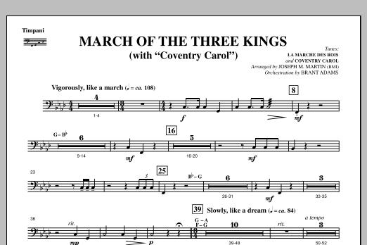 March Of The Three Kings (from A Symphony Of Carols) - Timpani (Choir Instrumental Pak)