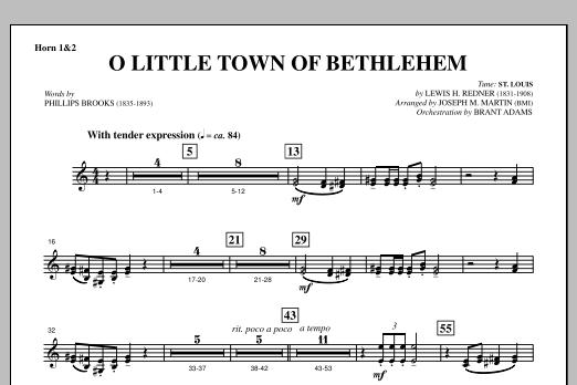 O Little Town Of Bethlehem (from A Symphony Of Carols) - F Horn 1,2 (Choir Instrumental Pak)