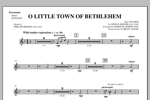 O Little Town Of Bethlehem (from A Symphony Of Carols) - Percussion (Choir Instrumental Pak)