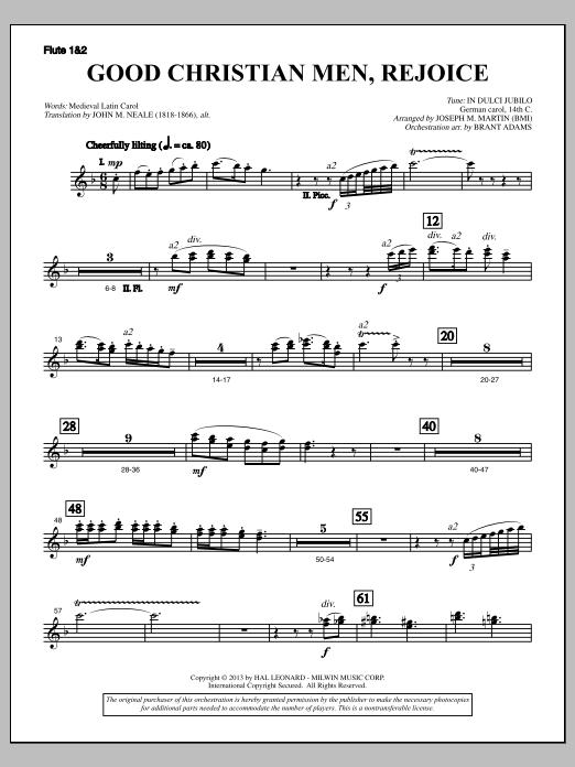 Good Christian Men, Rejoice (from A Symphony Of Carols) - Flute 1 & 2 (Choir Instrumental Pak)