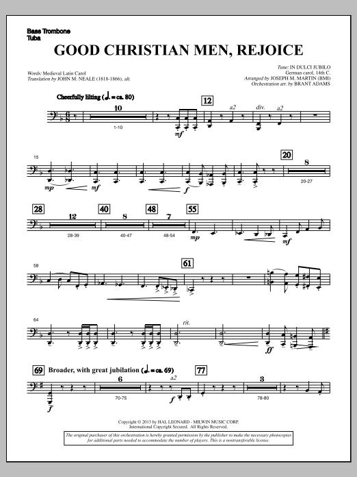 Good Christian Men, Rejoice (from A Symphony Of Carols) - Bass Trombone/Tuba (Choir Instrumental Pak)