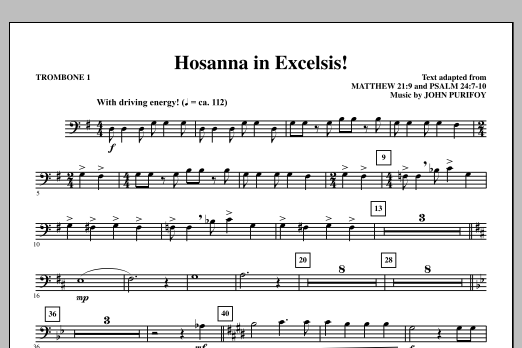 Hosanna in Excelsis! - Trombone 1 (Choir Instrumental Pak)