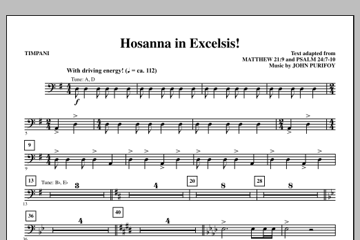 Hosanna in Excelsis! - Timpani (Choir Instrumental Pak)