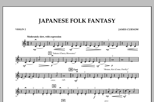 Japanese Folk Fantasy - Violin 2 (Orchestra)