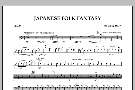 Japanese Folk Fantasy - Cello (Orchestra)