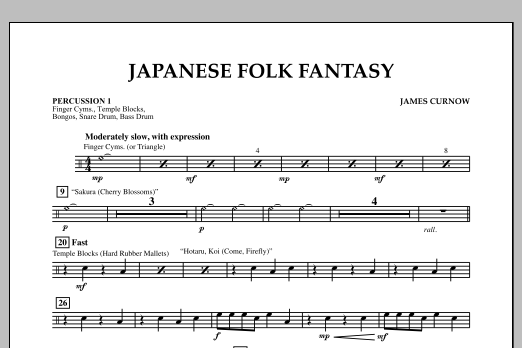 Japanese Folk Fantasy - Percussion 1 (Orchestra)
