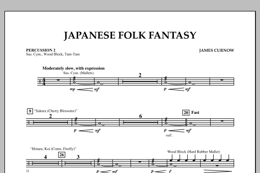 Japanese Folk Fantasy - Percussion 2 (Orchestra)