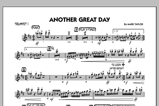 Another Great Day - Trumpet 1 (Jazz Ensemble)
