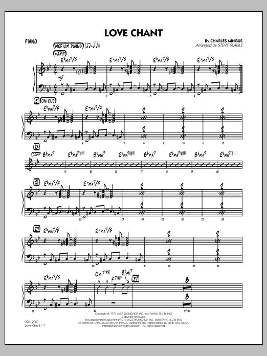 Love Chant - Piano (Jazz Ensemble)