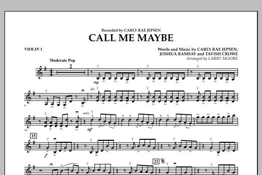 Call Me Maybe - Violin 1 (Orchestra)