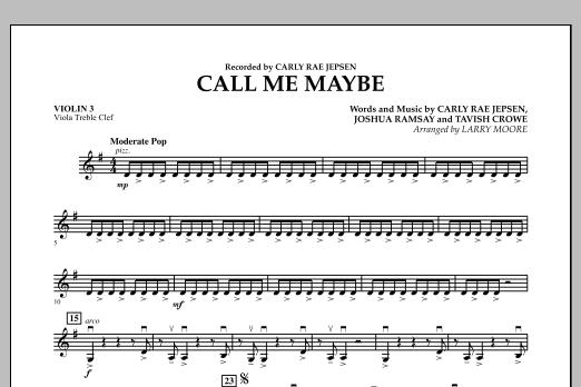 Call Me Maybe - Violin 3 (Viola Treble Clef) (Orchestra)