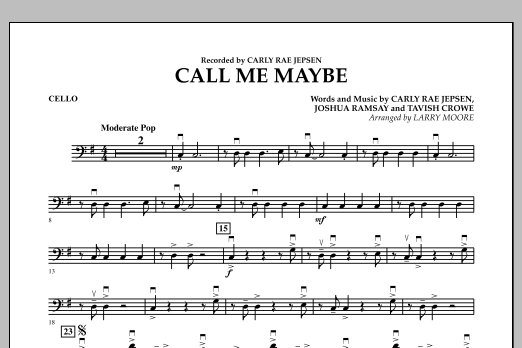 Call Me Maybe - Cello (Orchestra)