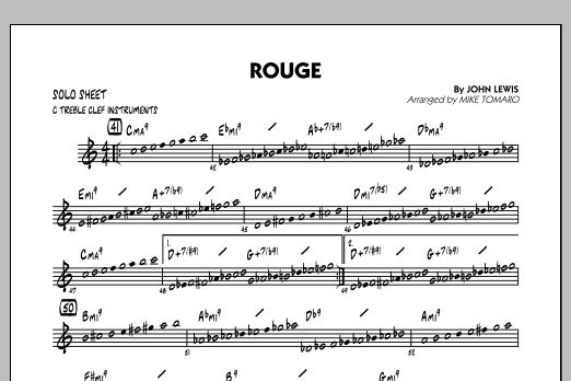 Rouge - C Solo Sheet (Jazz Ensemble)