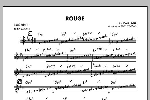 Rouge - Bb Solo Sheet (Jazz Ensemble)