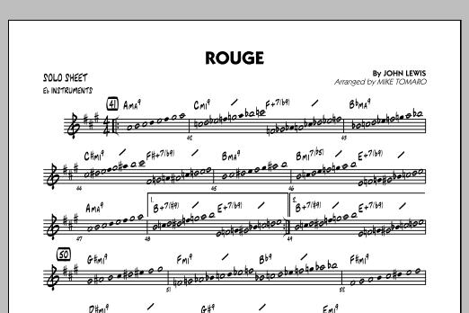 Rouge - Eb Solo Sheet (Jazz Ensemble)