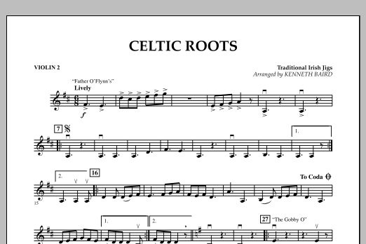 Celtic Roots - Violin 2 (Orchestra)