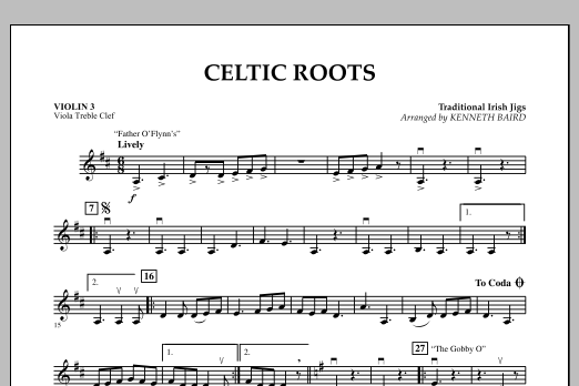 Celtic Roots - Violin 3 (Viola Treble Clef) (Orchestra)