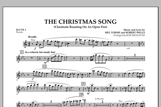 The Christmas Song (Chestnuts Roasting on an Open Fire) - Flute 2 (Full Orchestra)