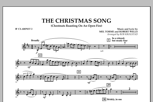 The Christmas Song (Chestnuts Roasting on an Open Fire) - Bb Clarinet 2 (Full Orchestra)