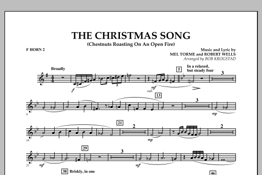 The Christmas Song (Chestnuts Roasting on an Open Fire) - F Horn 2 (Full Orchestra)