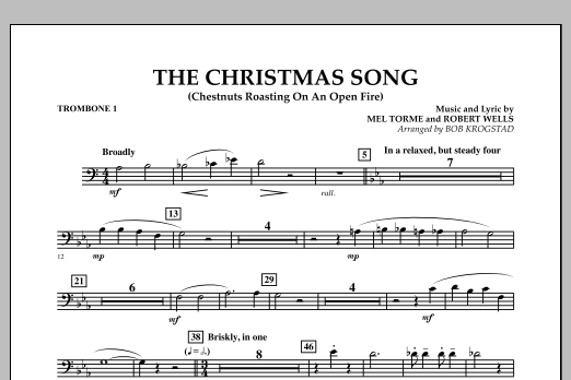 The Christmas Song (Chestnuts Roasting on an Open Fire) - Trombone 1 (Full Orchestra)