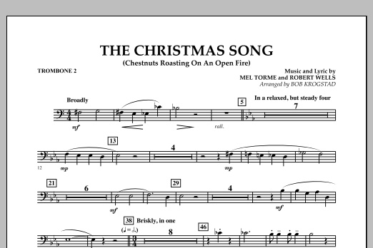 The Christmas Song (Chestnuts Roasting on an Open Fire) - Trombone 2 (Full Orchestra)