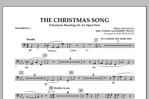 The Christmas Song (Chestnuts Roasting on an Open Fire) - Trombone 3 (Full Orchestra)