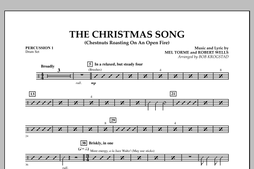 The Christmas Song (Chestnuts Roasting on an Open Fire) - Percussion 1 (Full Orchestra)