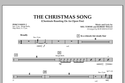 The Christmas Song (Chestnuts Roasting on an Open Fire) - Percussion 2 (Full Orchestra)