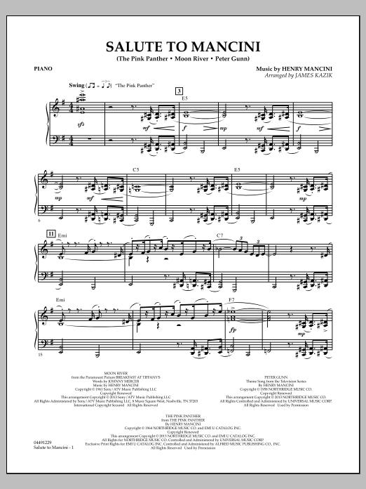 Salute to Mancini - Piano (Orchestra)