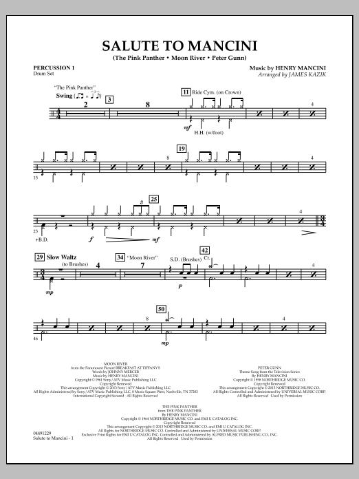Salute to Mancini - Percussion 1 (Orchestra)