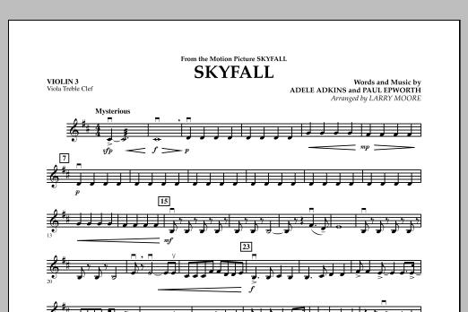 Skyfall - Violin 3 (Viola Treble Clef) (Orchestra)