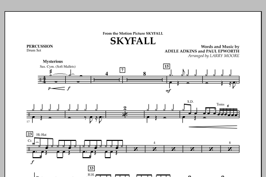 Skyfall - Percussion (Orchestra)