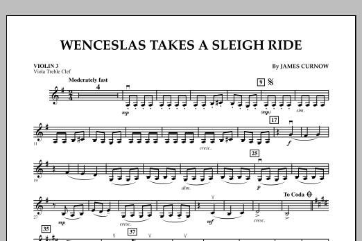 Wenceslas Takes a Sleigh Ride - Violin 3 (Viola Treble Clef) (Orchestra)
