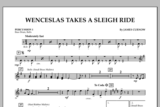 Wenceslas Takes a Sleigh Ride - Percussion 1 (Orchestra)