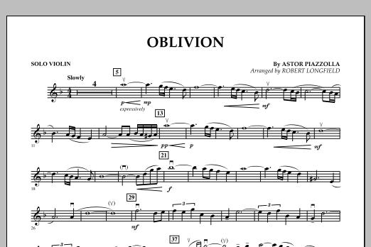 Oblivion - Solo Violin (Orchestra)