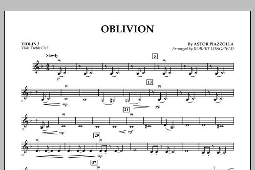 Oblivion - Violin 3 (Viola Treble Clef) (Orchestra)