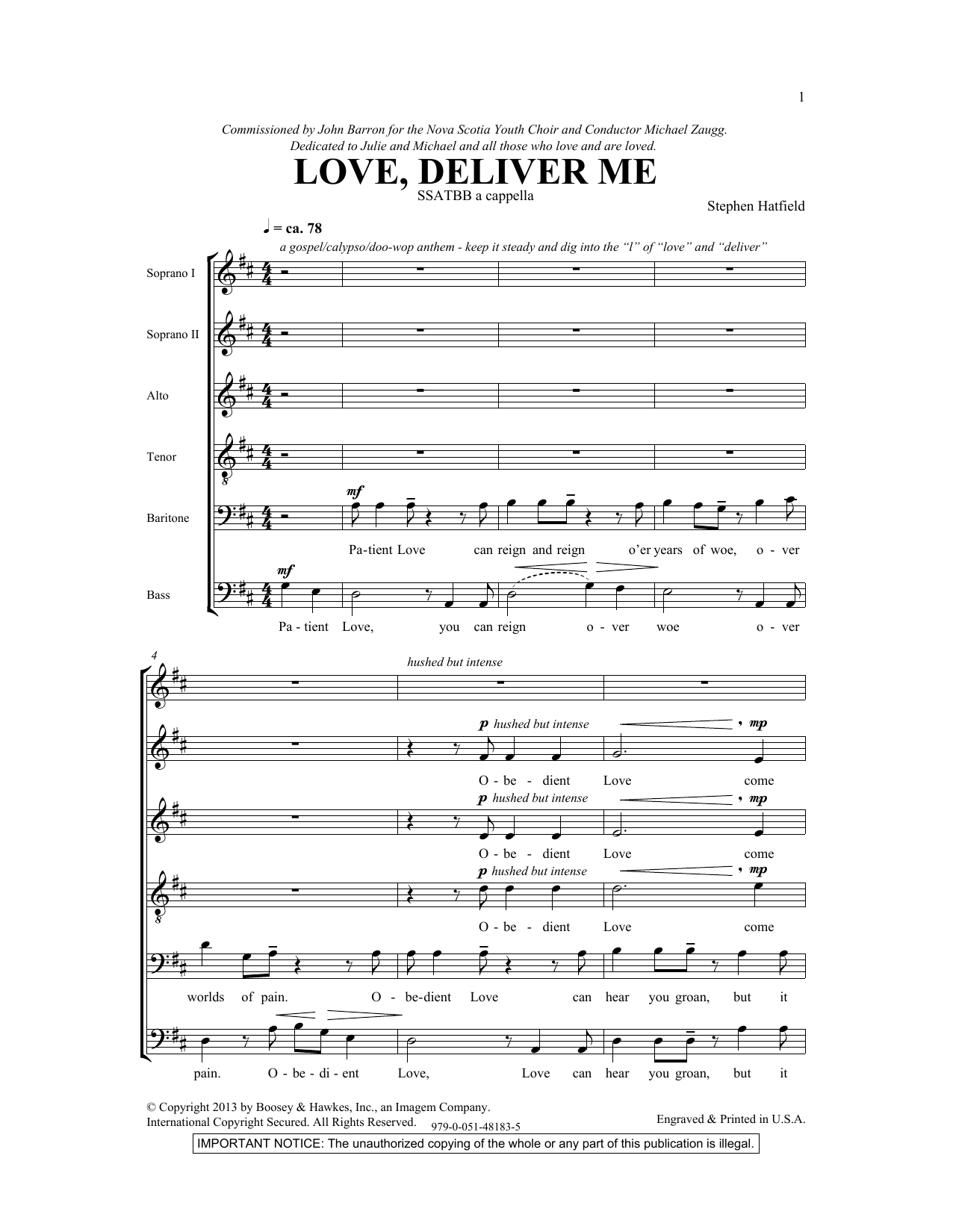 Love Deliver Me Sheet Music