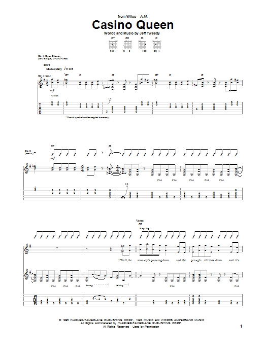 Casino Queen (Guitar Tab)