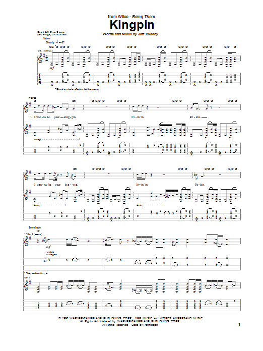Kingpin Sheet Music