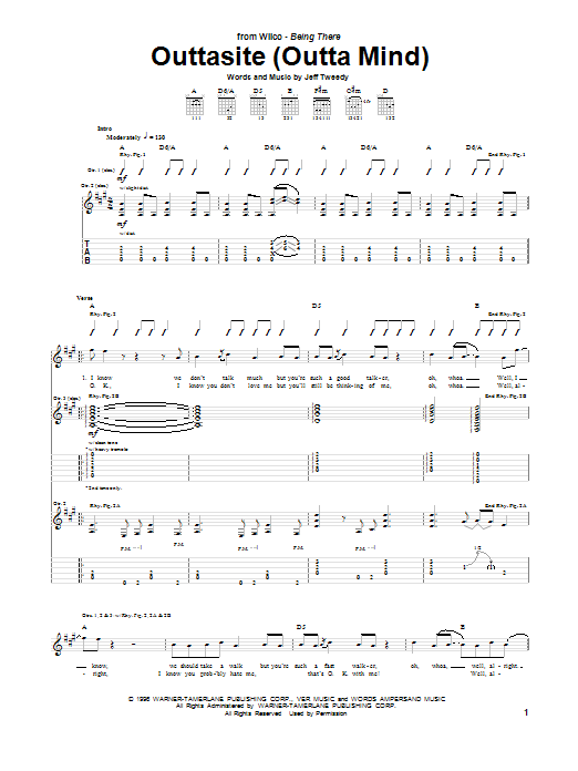 Outtasite (Outta Mind) Sheet Music