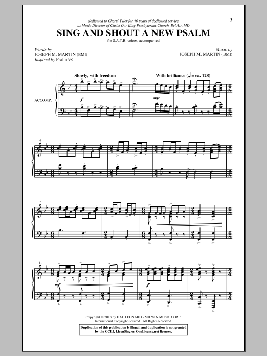Sing And Shout A New Psalm Sheet Music