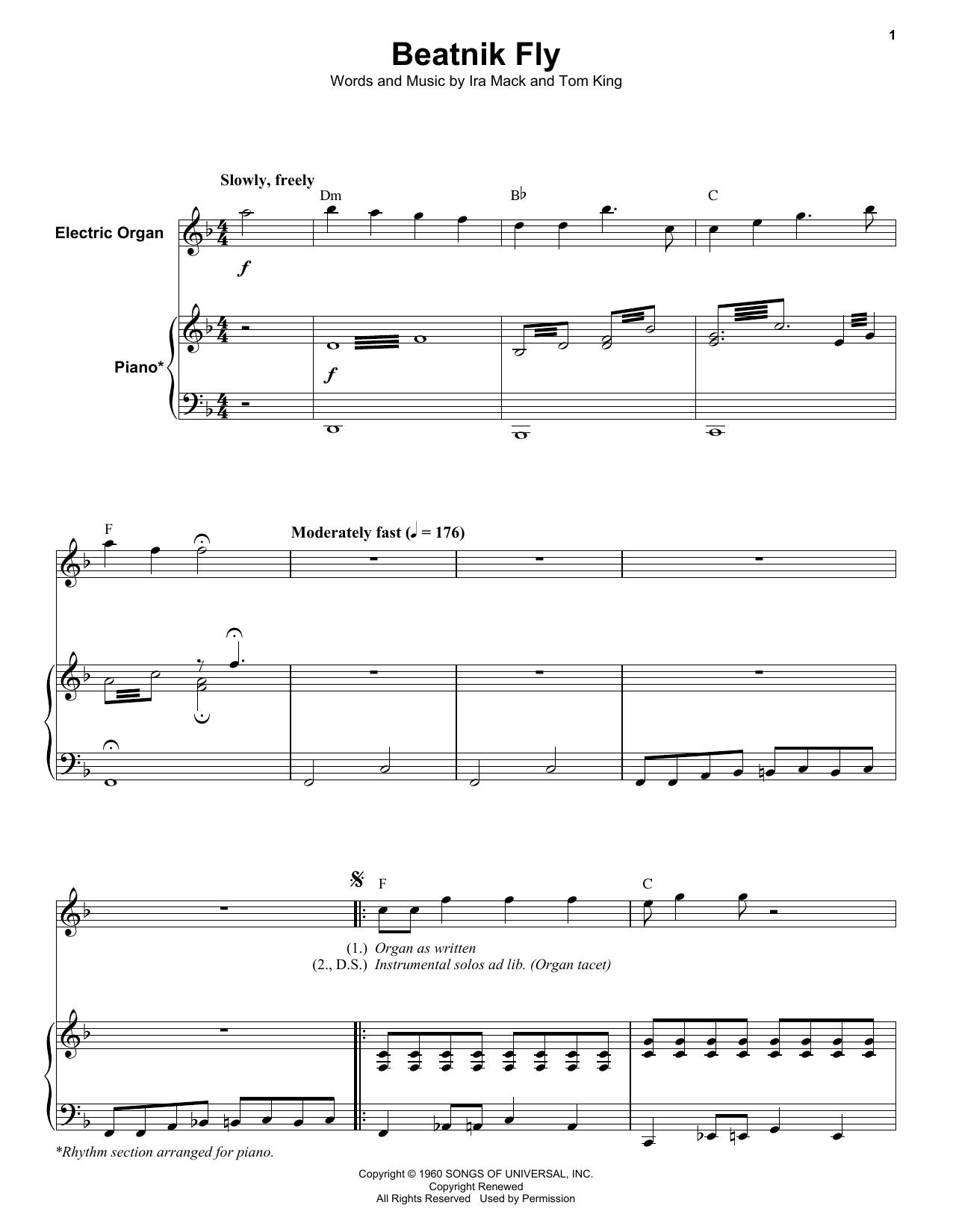 Beatnik Fly (Keyboard Transcription)