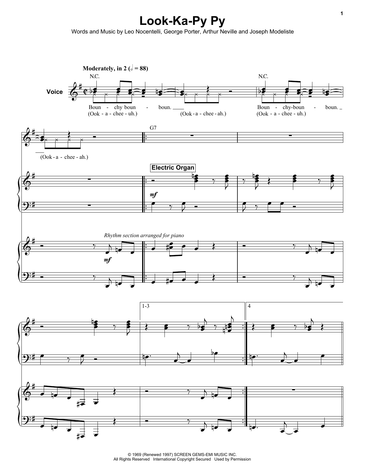 Look-Ka-Py Py Sheet Music