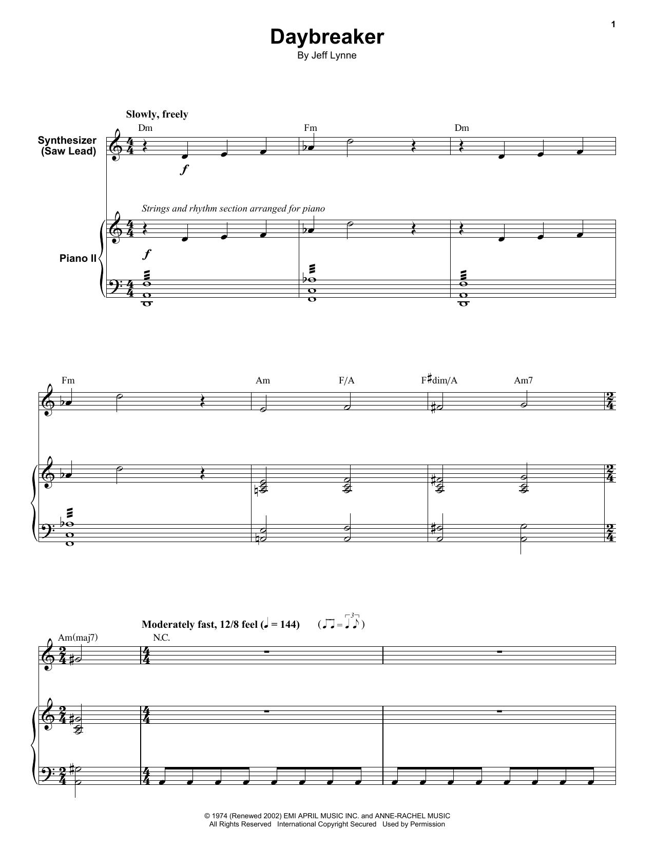 Daybreaker (Keyboard Transcription)