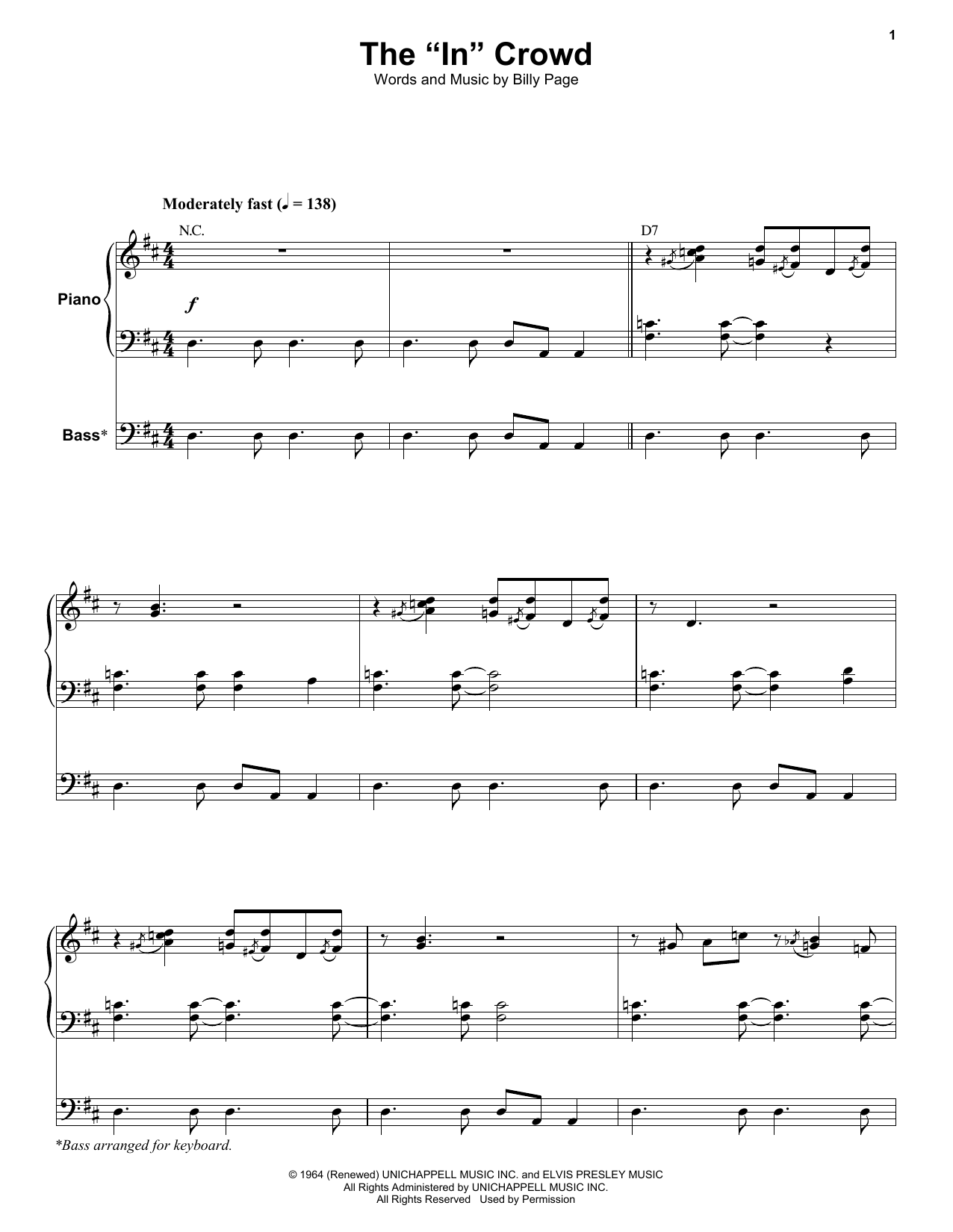 """The """"In"""" Crowd Sheet Music"""